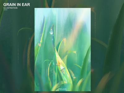 芒种时节 风景 装饰 插图 2d 绿色 色彩 插画 设计 艺术