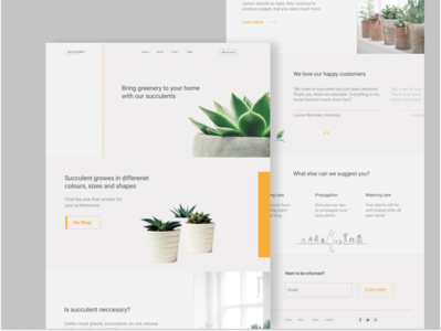 Landing page for Succulent