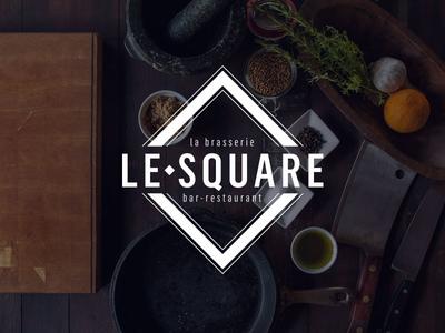 Logo Le Square  brasserie progress in work identity branding
