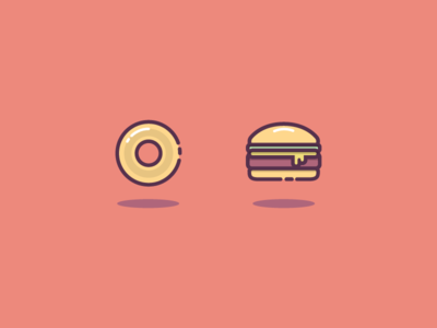 Burger Bagel Shot illustration burger bagel icon