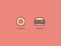 Burger Bagel Shot