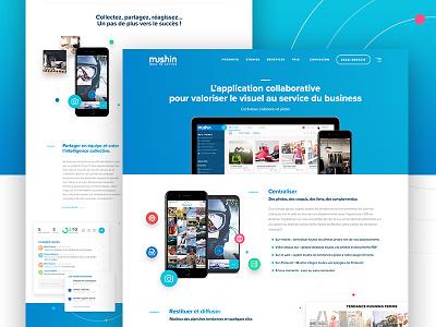 Mushin App - Website Design user homepage website webapp mushin