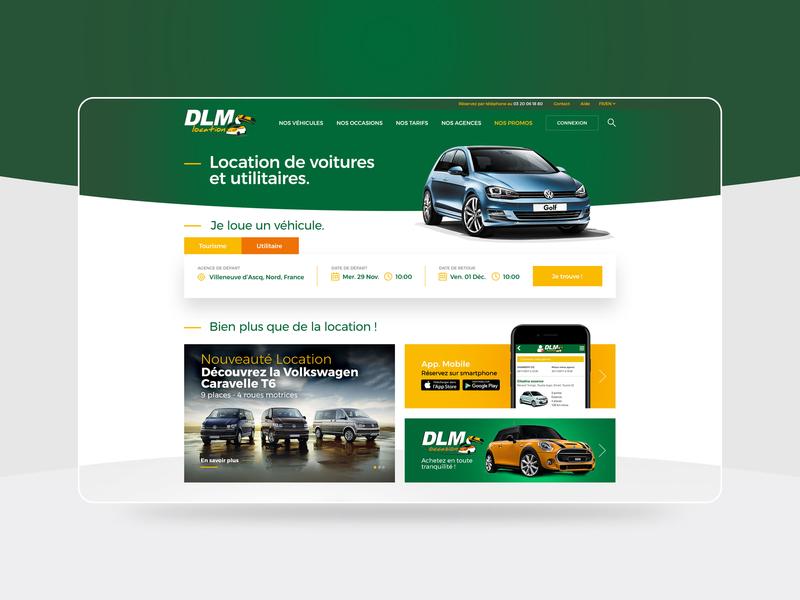 DLM - Redesign work homepage identity
