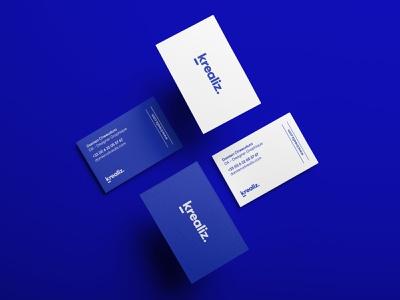 Business Card - Pantone 072 Blue vector progress work logo identity branding business card mockup business card design pantone
