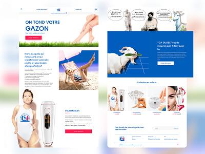 E-Commerce Store shopify product website minimal website web ux branding ui logo design