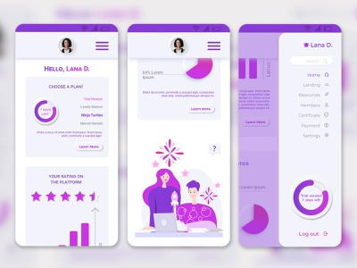 Dribbble 7 mobile version app illustration design ux ui