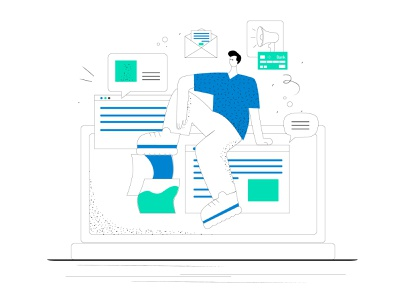 New style ui concept art brand design flat app web vector branding design illustration