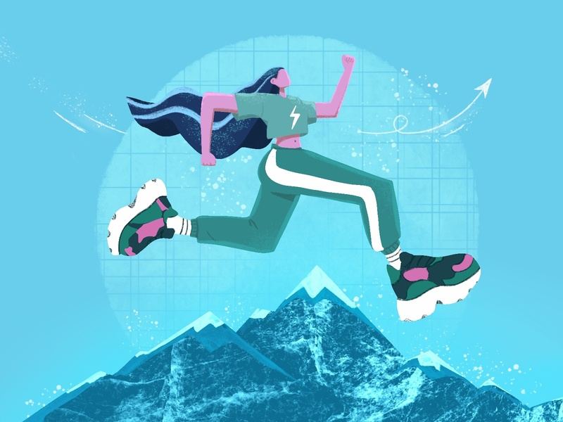 achieve the goal mountains goal concept design concept art illustration