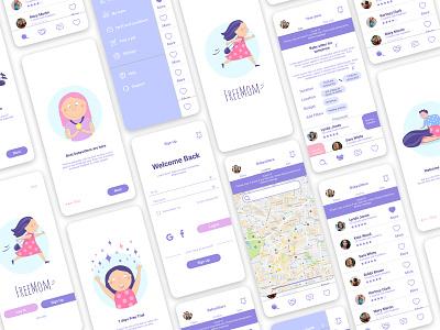 freemom ux design ui design icon logo design app ui ux