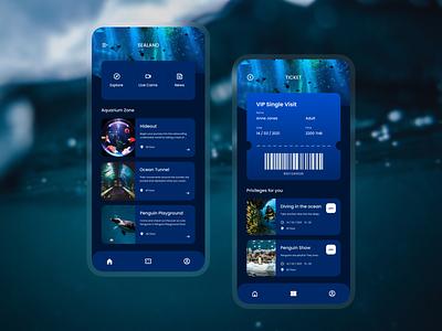 Aquarium app app ux ui design