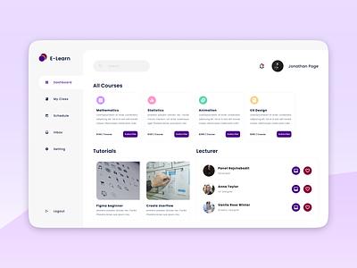 E-Learn Dashboards web ux ui design