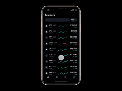 Crypto Exchange Prototype (feat. Figma's Smart Animate) app figma smart animate animation success message ether defi ethereum charts ios bitcoin cryptocurrency fintech price data crypto ux ui
