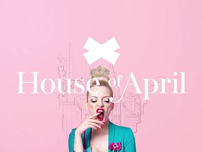 House Of April - e-commerce fashion brand woman boutique fashion brand logo ux branding shopware ui mobile magento ecommerce design clean