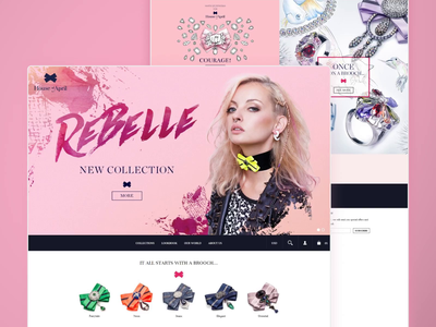 House Of April - e-commerce fashion brand modern webdesign website design boutique fashion branding clean ui ux mobile shopware magento ecommerce