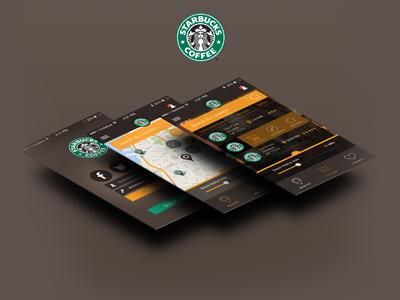 Starbucks App UI mobile ui starbucks ui coffee shop app ui