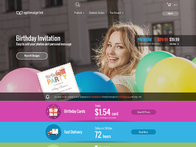 Birthday Invitation Landing Page web ui design birthday invitation ux ui