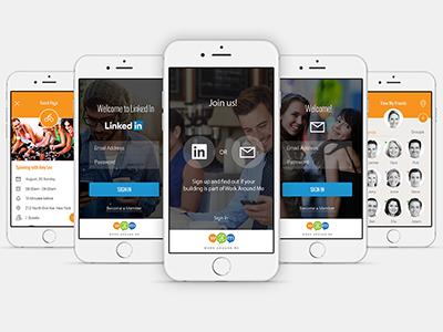 WAM - Work Around Me App app social geo