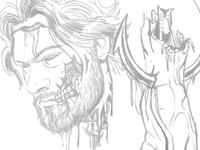 Self Portrait Rough Sketch