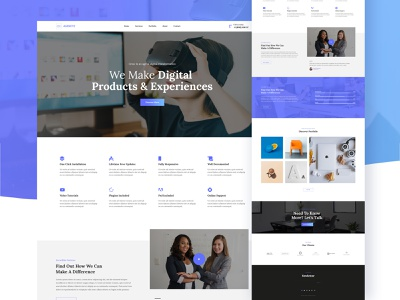 Agency website template wordpress psd template psd design web design webdesign ux ui design ui typogaphy layout minimal interface agency creative clean