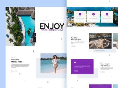 Hotel website template reservation room booking stay purple codelab booking hotel creative wordpress ux psd template modern layout ui ui design typogaphy psd design clean