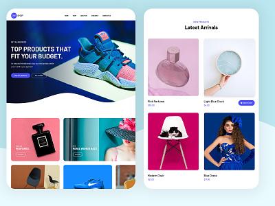 One Shop blue clean layout psd design ux ui modern psd template ui design typogaphy shopping shopping cart checkout shop
