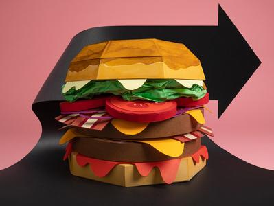 Paper hamburger food hamburger illustration papercraft paper photography