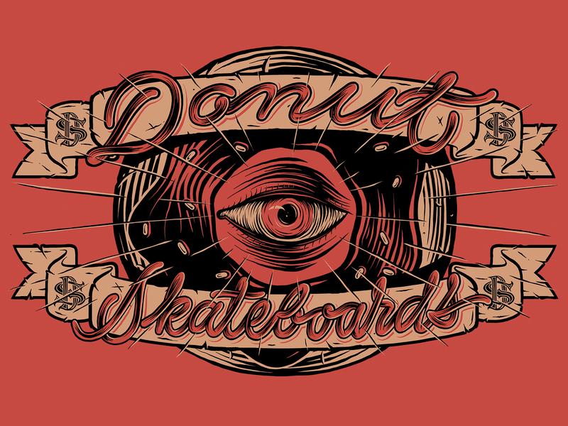 Donut skateboards donut skateboard typo handmade typography illustration lettering
