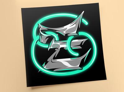 """E"" for Lettera40 graffiti neon type design vector typo typography illustration lettering"