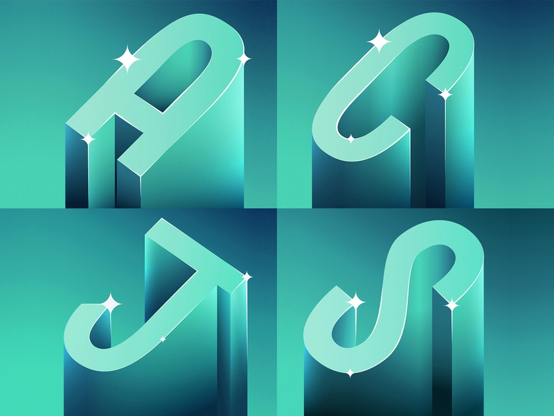 Letters for Lettera40 type design vector typo typography illustration lettering