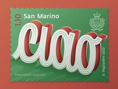 Ciao ciao stamp design stamps type design vector typo typography illustration lettering