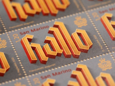 """""""Hallo"""" stamps stamps stamp design type design vector typo typography illustration lettering"""