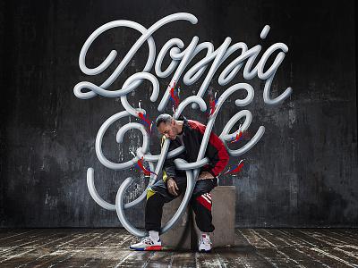 Adidas x Fabri Fibra advertising music rapper rap calligraphy sneakers adidas illustration typography lettering