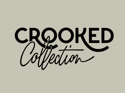 Crooked Collection typogaphy calligraphy logo calligraphy title design animation logo type design vector typo typography lettering