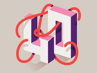 40K x Lobsterstudio.tv lobstertv animation type design vector typo typography illustration lettering