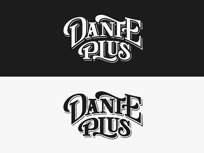 Dante Plus branding customtype typography lettering dantealighieri vector logo