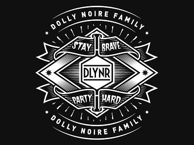 """Dolly Noire """"Family"""" dlynr dollynoire lettering vector streetwear illustration branding badge"""