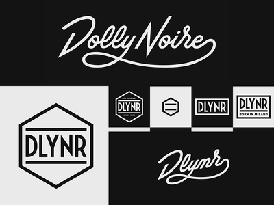 Dolly Noire Restyling dlnyr lettering typography street clothing streetwear branding vector logo