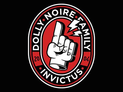 Dolly Noire Sporty Hand sport noire dolly hand logo vector badge illustration