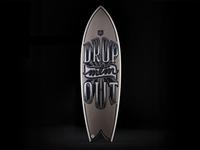 Surfboard lettering
