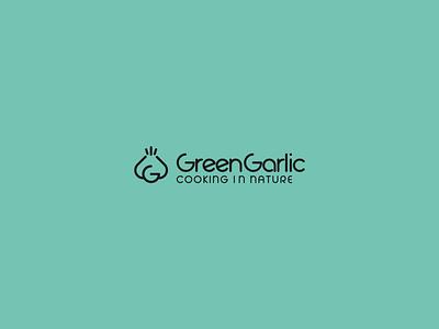 Grean Garlic Media design flat typography branding logo