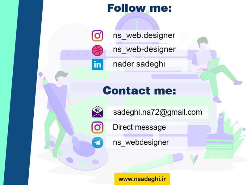 my social media and contact me social media adobe photoshop website design design webdesign ui photoshop