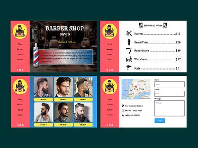 Barber shop design concept barbershop uidesign uidesigner ux photoshop adobe photoshop illustration figma figmadesign ui design webdesign