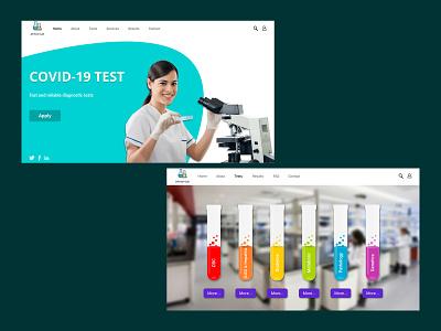 Laboratory design concept figma laboratory logo website design uidesigner figmadesign design webdesign ui adobe photoshop