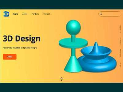 3D design website 3d art 3d uidesign uidesigner design figmadesign figma webdesign ui adobe photoshop illustration