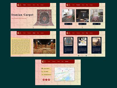 Carpet shop website design concept illustration adobe photoshop webdesigner uidesigner design figmadesign figma uidesign webdesign ux ui