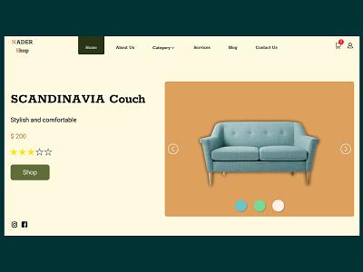 Furniture store web design concept uidesign adobe photoshop photoshop figmadesign figma website design webdesign ux ui