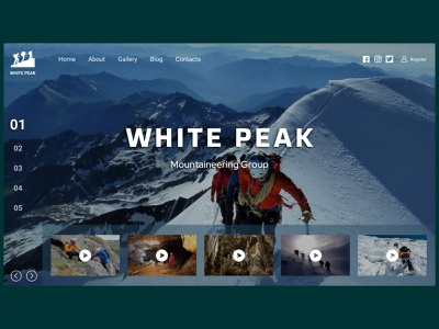 Mountaineering group webdesign concept uidesign uidesigner figma figmadesign webdesign website design ux ui