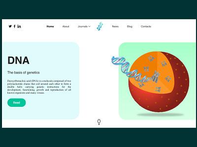 Genetics web design concept genetics dna design uidesigner vector website design figmadesign uidesign webdesign ux ui