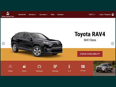 Rental Cars website design concept design branding mydesign figma figmadesign uidesigner uidesign webdesign ux ui