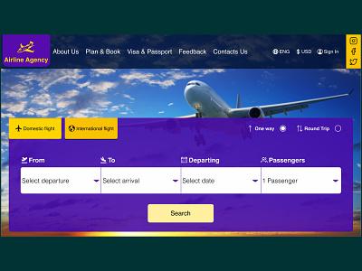Airline agency website design concept airlineagency airline uidesigner uidesign figmadesign figma webdesign ux ui